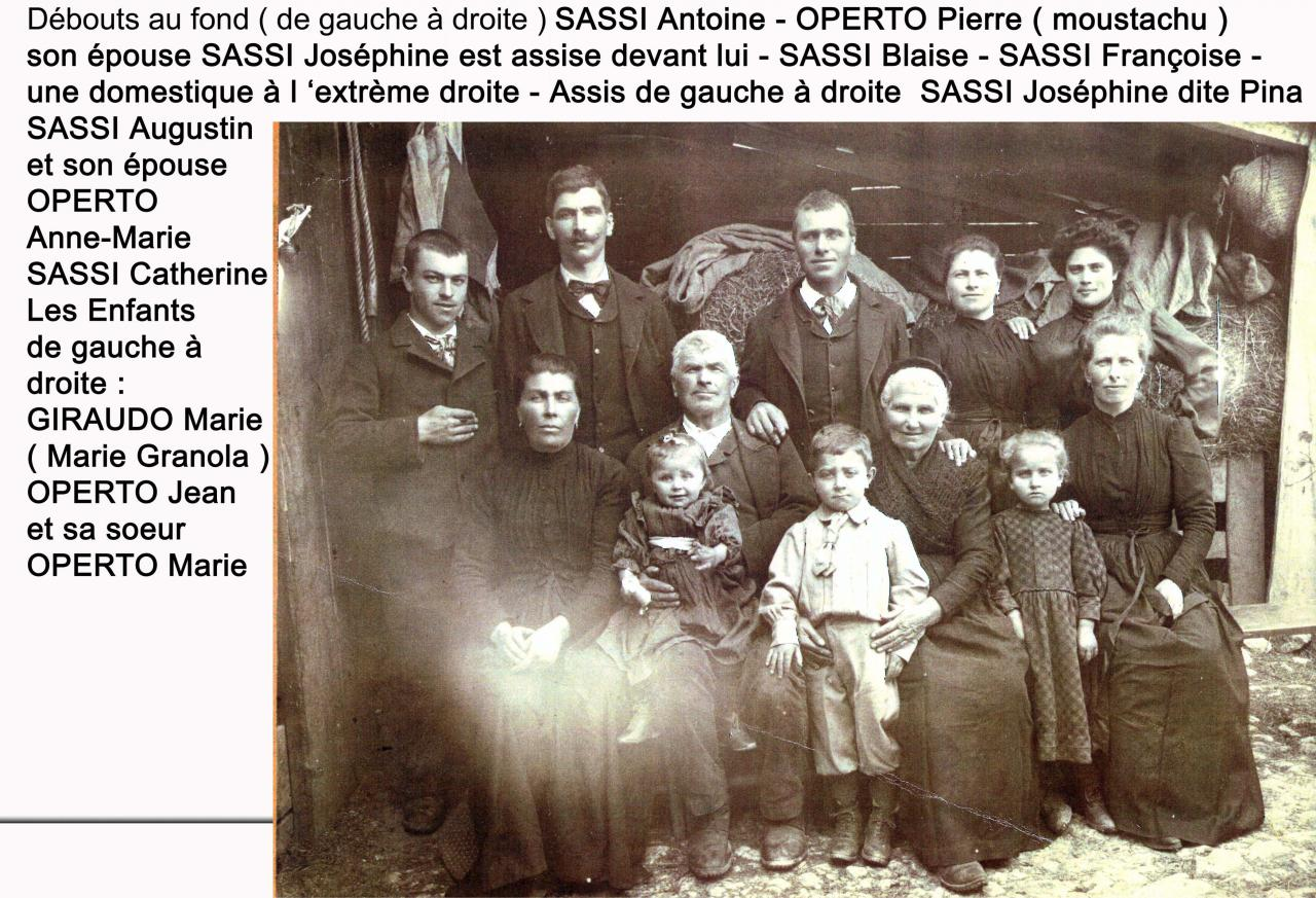 Familles Operto - Sassi - Collection François Galvagno