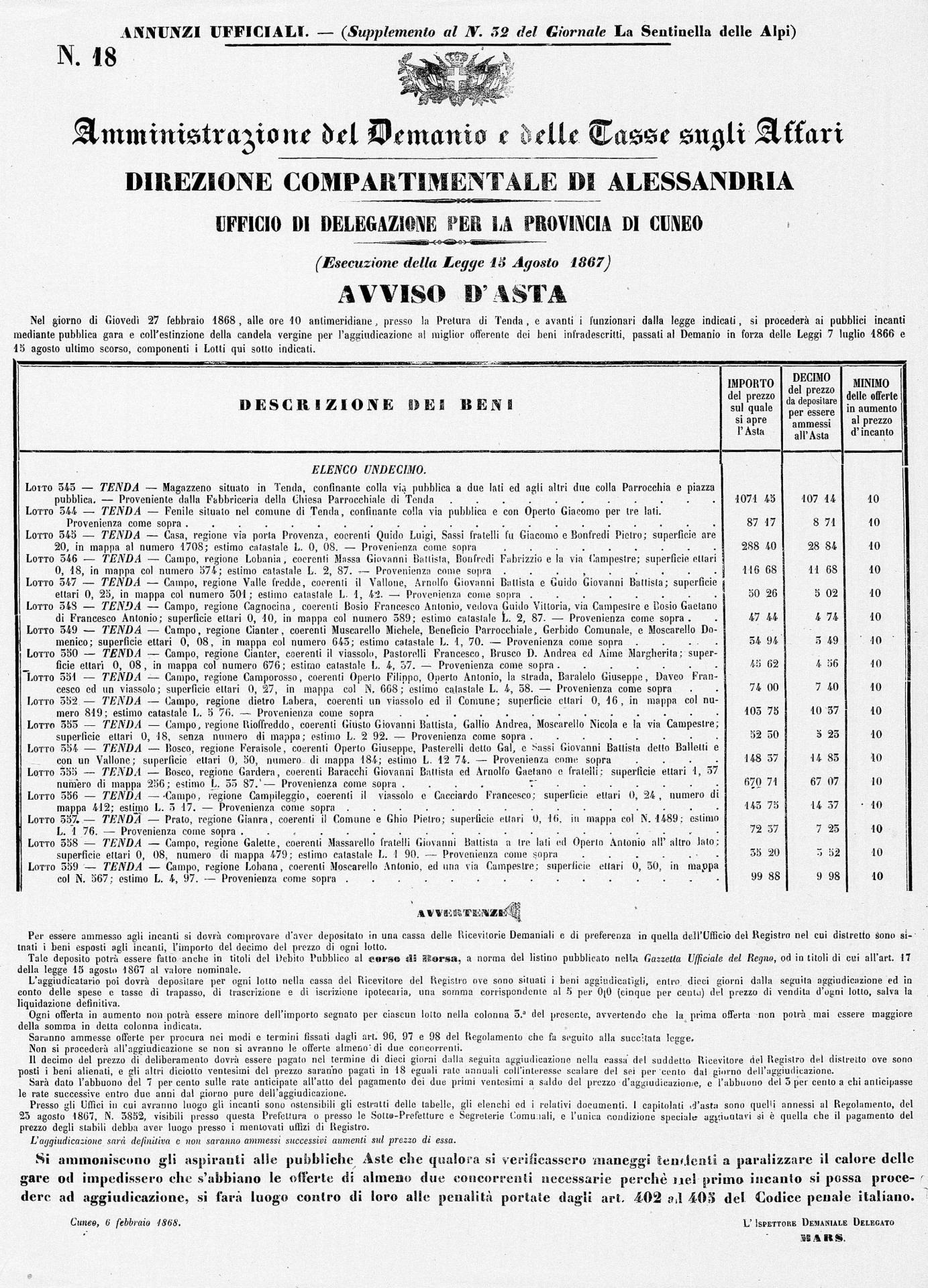 33 du 8 2 1868